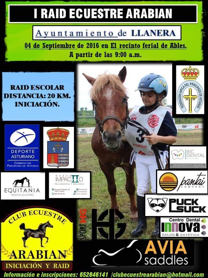 I Raid Ecuestre Escolar Arabian Asturias