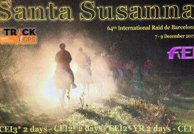 Resultados del 64 Raid Hípico Internacional de Santa Susana (Barcelona) 9-XII-2017.