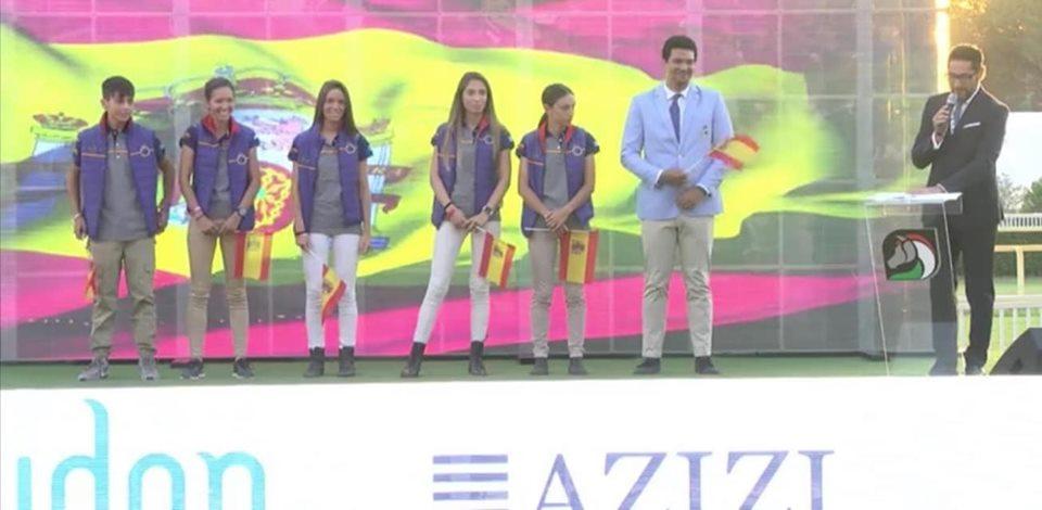 España Medalla de Plata por Equipos.