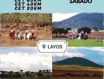 Inscritos en el II Raid Hípico de Layos (Toledo).